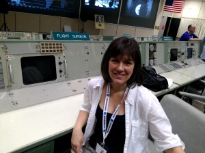 Me in the Mission Control room used for the Apollo missions. Preserved as an historic site.